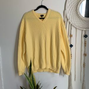 Vintage Oversized Yellow Knitted Sweater